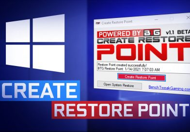 Create Restore Point Utility – Easily and Safely backup Windows OS! V1.1