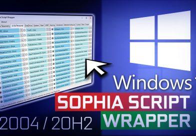 Windows 10 Debloat GUI/Debloater is now 'Sophia Script Wrapper'!